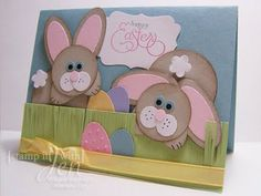 Easter card! Bunnies made using basic punches!
