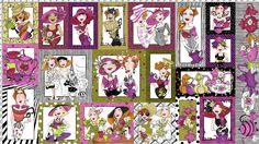Ladies Tea Fabric Panel - Fabric – Loralie Designs