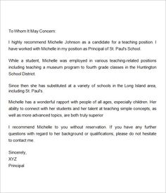 Sample Letter Of Recommendation For Teacher   18+ Documents In Word
