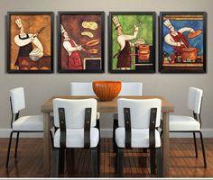 Pomysł na naścienną ozdobę do kuchni lub jadalni, a także do lokalu gastronomicznego - kolorowe obrazy z kucharzem przy pracy #fedkolor #obraz #obrazynapłótnie #sztuka #art #gotowanie #kucharz #kuchnia #jadalnia #dokuchni #dorestauracji #gastronomia #aranżacje #inspiracje #pomysł