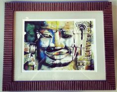 Original art using Fotiou Frames with linen matting! #art #framing #denver #colorado #originalart — at FastFrame of LoDo.