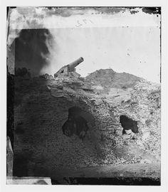 Fort Pulaski, Georgia. The breach