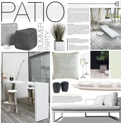 """""""Grey & White Patio"""" by bellamarie on Polyvore"""