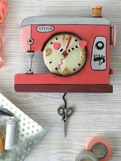 Sewing Machine Clock