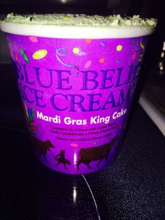 Mardi Gras King Cake flavored ice cream by Blue Bell.  In my freezer right now...so good
