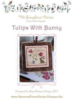 Tulips With Bunny - free cross stitch chart