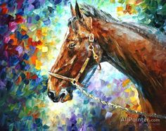 Horse - Commissioned Painting Art Print for sale. Shop your favorite Leonid Afremov Horse - Commissioned Painting Art Print without breaking your banks. Horse Oil Painting, Oil Painting On Canvas, Canvas Art Prints, Knife Painting, Painting Art, Horse Wall Art, Oil Painting Reproductions, Leonid Afremov Paintings, Lovers Art