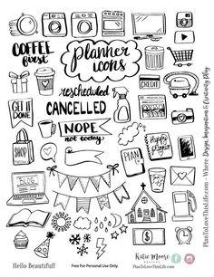 Free Printable Hand Drawn Planner Icons from Plan to Love This Life store checko. - sketchbook drawings - Free Printable Hand Drawn Planner Icons from Plan to Love This Life store checkout required - Planner Bullet Journal, Bullet Journal Ideas Pages, Bullet Journal Inspiration, Bullet Journal Icons, Bullet Journal Printables, Bullet Journals, Bullet Icon, Bullet Journal Layout Templates, Bullet Journal Headers