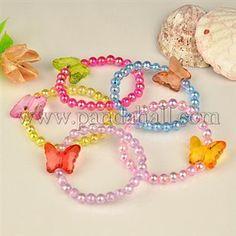 Transparent Acrylic Kids Bracelets for Children's Day Gift BJEW-JB00613-M