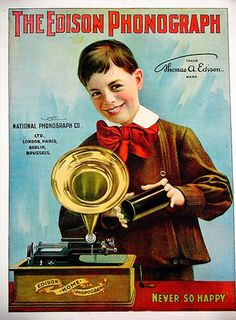 The Edison Phonograph (c.1901). #music #kitsch http://www.pinterest.com/TheHitman14/musical-kitsch-%2B/