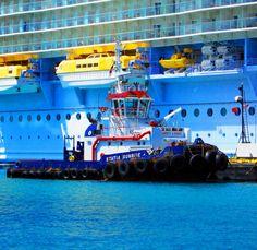 St Maarten Tug Boat At Cruise Ship Terminal Love's Photo Album