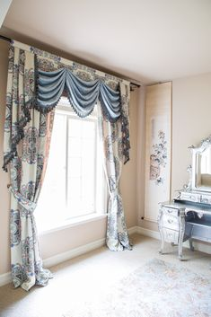 Feast your eyes upon the intricate kaleidoscope floral pattern of the linen cotton blend fabric. Let this truly exquisite curtain set lighten up your room.  http://www.celuce.com/p/420/kaleidoscope-off-white-swag-on-pelmet-valance-curtain-set
