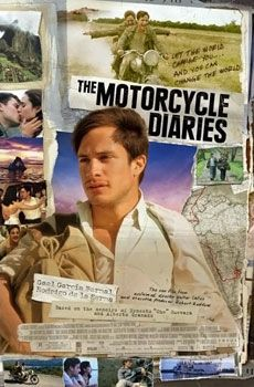 The Motorcycle Diaries (Walter Salles), a biopic of a pre-revolutionary Che Guevara who becomes politicised when travelling across an impoverished South America. Starring Gael Garcia Bernal. Find this at 791.4378 MOT