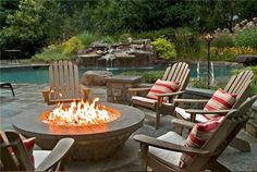 Where i live, there will most definitely be a fire pit in the backyard. Love this on cool summer nights with friends