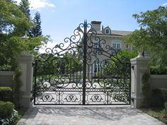 The gate, while beautiful, is not applicable to me since we don't live in an estate. :) But love the driveway