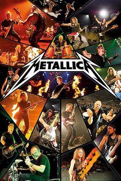 Metallica - Music Poster (Live Collage) (Size: x Music Poster Size: x Ships rolled in sturdy cardboard tube Art Metallica, Metallica Albums, Hard Rock, James Hetfield, Heavy Metal Music, Heavy Metal Bands, Thrash Metal, Pop Rock, Classic Rock