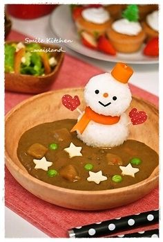snowman curry & rice