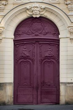 An excellent color for a door!