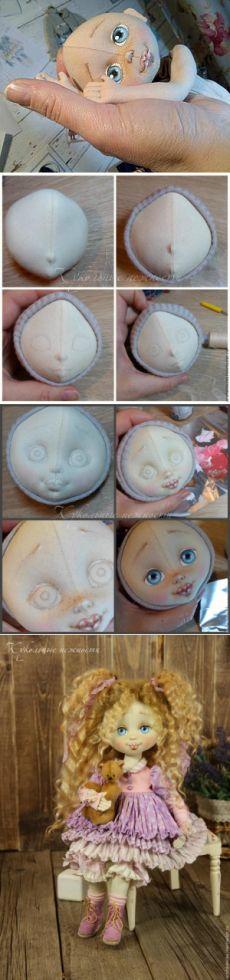 Létrehozása egy kis arc textil baba - Fair Masters - kézzel készített, kézzel…