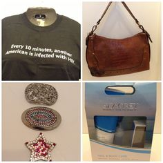 For bid on eBay: t shirts, handbags, belt buckles, foot spa &. Much more. Go to Fashion Boutique 29. Thank you.