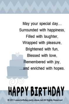 Free Birthday Verses For Cards Greetings and Poems For Friends Birthday Verses For Cards, Birthday Words, Birthday Wishes Messages, Birthday Card Sayings, Best Birthday Wishes, Birthday Greetings, Birthday Msgs, Birthday Prayer, Sister Birthday