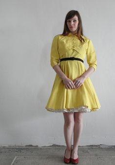 Vintage 1960s Two Piece  Dress Jacket Bolero  by VeraVague on Etsy, $145.00