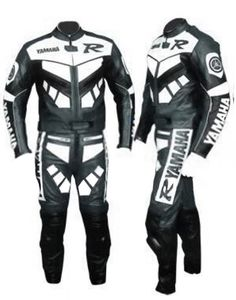 Motorcycle Yamaha R Racing Leather Suit For Men