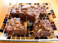 Daimruter from heaven Food N, Food And Drink, Sweet Recipes, Cake Recipes, Norwegian Food, Norwegian Recipes, Sweet Cakes, Cookie Bars, Chocolate Cake