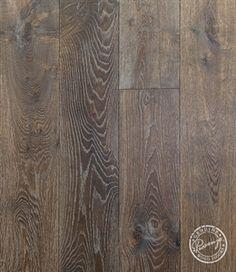 """Show details for Provenza Pompeii European Oak Amiata- 7.44"""" - Medium Brown/Gray hardwood, wide plank, handscraped"""