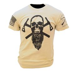Authentic Grunt Style Apparel sold by Authorized Retailer. Ultra soft and comfortable. Original Grunt Style design and is guaranteed to you by their 'Beer Guarantee'. Grunt Style Shirts, Shirt Style, Tan T Shirt, Tactical Clothing, Men's Clothing, Military Men, Graphic Tee Shirts, Beard Styles, Cool Shirts