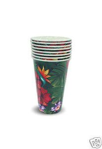 Hawaiian Party Product Paper Cups Lush Tropical