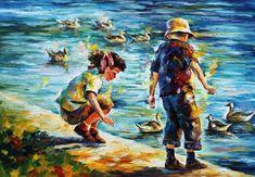 Recreación original pintura al óleo sobre lienzo Se trata de la mejor calidad posible de recreación hecha por Leonid Afremov en persona Título:
