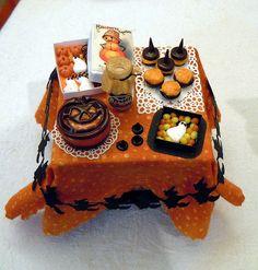 dollhouse miniatures Halloween treats
