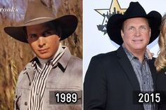 Then and Now: Country Stars - Garth Brooks.  Garth's Angels loved then and now.