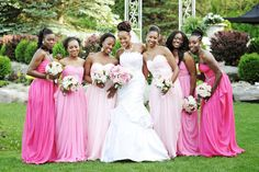 Three things to let the bridesmaids choose (maybe none or more than one):  the shoes, the dress, the hair.  Read on.