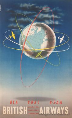 British Airways :: globe #travel #alookat #airlines #poster