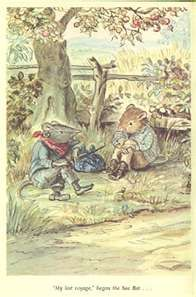"Tasha Tudor illustration from ""The Wind in the Willows"""