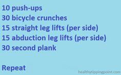 Easy strength training  workout via @Caitlin Boyle