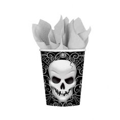 Wholesale balloons and party supplies, helium and balloon accessories for the balloon and party trade Fright Night Halloween Cups - Fright Night Halloween Paper Cups supplied in packs of Halloween Elegante, Black Cutlery, Halloween Cups, Horror, Fright Night, Party Cups, Partys, Party Stores, The Balloon