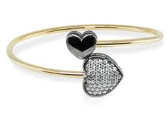Sterling Silver Gold Plated Cuff Tubing Bracelet Cz Black Heart Item Fit / Dimensions: Length Made In: United States Shipped From: United States Lead Black Heart, Heart Of Gold, Black Sparkle, Christian Jewelry, Sterling Silver Cuff Bracelet, Silver Diamonds, Gold Jewelry, Bangles, Bracelets