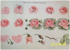 Ideas For Drawing Rose Tutorial China Painting China Painting, Tole Painting, Fabric Painting, Painting & Drawing, Watercolor Paintings, Gouache Painting, Watercolor Rose, Diy Painting, China Rose