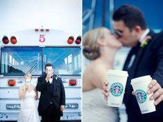 This is a must for me lol- Starbucks Wedding Picture