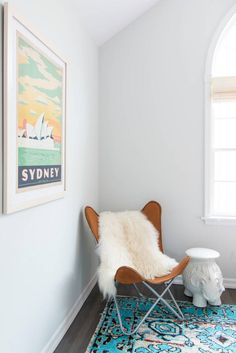 Fun details for the kids room | Ellie Side Table via Serena & Lily | Image via Domino
