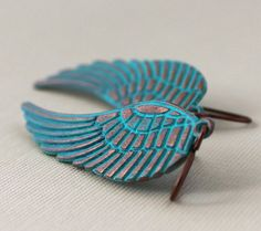 30 ANNIVERSARY SALE Feather Earrings Wing Jewelry by michabella, $20.00