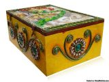 Make the best out of this wedding season with our grand sale. Now buy handcrafted wooden bangle boxes adorned with clay based hand paintings portraying the rich culture of rajasthani village, adorned with meenakari work and semi precious jewels and avail flat 30% discount on every bangle box.