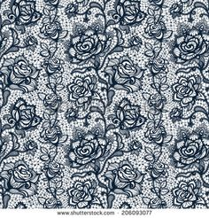 stock-vector-abstract-seamless-lace-pattern-with-flowers-roses-infinitely-wallpaper-decoration-for-your-design-206093077.jpg (450×470)