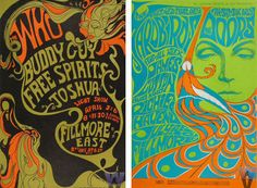 love the idea of a psychedelic poster as inspiration for wedding invitation w/drawings of the bride and groom