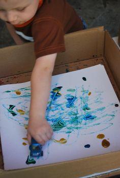Car Tire Painting Craft #ArtsAndCrafts #KidsCrafts #Crafts #DIY #Cars #Paint #Transportation