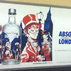 Underground Ads Co Uk, Jamie Hewlett, Vodka Bottle, Ads, Marketing, Drinks, Design, Drinking, Beverages