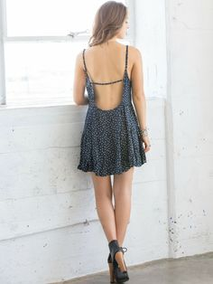 'Just Beachy' Floral Babydoll Dress #openback #backless